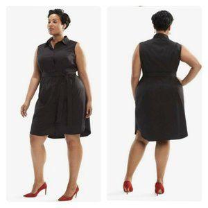 NEW MM LaFleur Sonia Dress 1X Poplin Black Collar